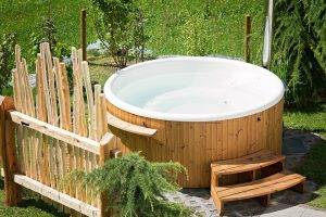 Large Outdoor Wooden Hot Tub